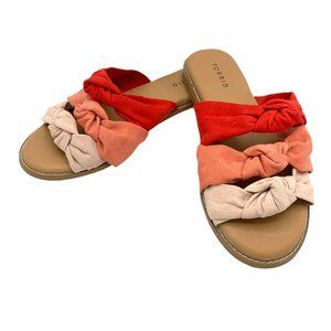Torrid Women's Slide Sandals Knotted Faux Suede 9W